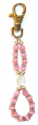 Keychain - Breast Cancer awareness Keychain/purse charm 13cm and clips to everything!