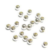 20 pcs .925 Sterling Silver Seamless Round Bead Spacer 4mm Italian / Findings / Bright