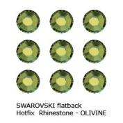". Crystal Hotfix Flatback RHINESTONE #2028 Xilion Rose ss16 ~ 4mm ""OLIVINE"""