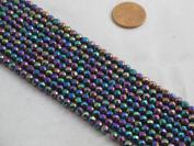 Hematite Faceted Round 4mm 15.5'' Per Strand Coating Multi-colour 96pcs
