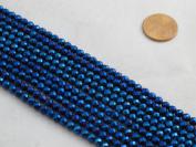 Hematite Faceted Round 4mm 15.5'' Per Strand Coating Blue Colour 96pcs