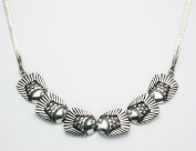 Sterling Silver Bali Fish Necklace 46cm with a Lobster Claw Clasp