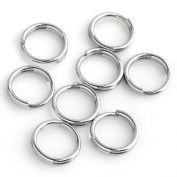 Top Plaza 300pcs Stainless Steel Jump Rings Open Double Rings Double Loop Split Findings Connectors 6mm*