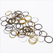 10mm Open Jump Rings Anitque Bronze Silver Plated - Mixed Style Colour