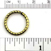 Chainology Antique Brass Rings #22