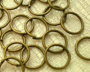 100pcs Antique Bronze Open Jump Rings 10mm/18GA ~Jewellery Findings~