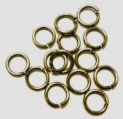 16 Ga Vintage Brass 9 Mm O/d Jump Ring 120 P. 30ml Saw-cut Made in USA
