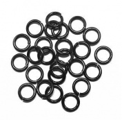 """SNAPEEZ® """"The Snapping Jump Ring"""" - SNAPEEZ® II ULTRAPLATE® Blackjack Ring Hard Open Jump 10mm Heavy Gauge"""