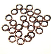 """SNAPEEZ® """"The Snapping Jump Ring"""" - SNAPEEZ® II ULTRAPLATE® Bella Flamed Copper Ring Hard Open Jump 10mm Heavy Gauge"""