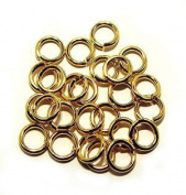 """SNAPEEZ® """"The Snapping Jump Ring"""" - SNAPEEZ® """"The Snapping Jump Ring"""" - SNAPEEZ® II ULTRAPLATE® 24 kt. Gold Ring Hard Open Jump 10mm Heavy Gauge"""