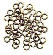 """SNAPEEZ® """"The Snapping Jump Ring"""" - SNAPEEZ® II ULTRAPLATE® 24 kt. Russian Gold Ring Hard Open Jump 8mm Heavy Gauge"""
