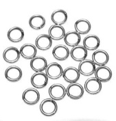 "SNAPEEZ® ""The Snapping Jump Ring"" - SNAPEEZ® II ULTRAPLATE® 99.9% Moonlight Silver Ring Hard Open Jump 10mm Heavy Gauge"