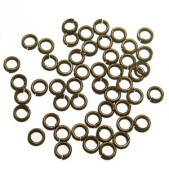 """SNAPEEZ® """"The Snapping Jump Ring"""" - SNAPEEZ® II ULTRAPLATE® Chocoalte Ring Hard Open Jump 8mm Heavy Gauge"""