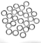 """SNAPEEZ® """"The Snapping Jump Ring"""" - SNAPEEZ® II ULTRAPLATE® 99.9% Moonlight Silver Hard Open Jump 12mm Heavy Gauge"""