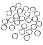 "SNAPEEZ® ""The Snapping Jump Ring"" - SNAPEEZ® II ULTRAPLATE® 99.9% Moonlight Silver Ring Hard Open Jump 14mm Heavy Gauge"
