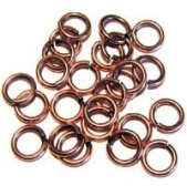 """SNAPEEZ® """"The Snapping Jump Ring"""" - SNAPEEZ® II ULTRAPLATE® Bella Flamed Copper Ring Hard Open Jump 14mm Heavy Gauge"""