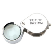kingmys 10x 21mm Glass Jeweller Loupe Eye Magnifier Magnifying