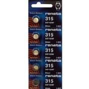 315 Watch battery - Strip of 5 Batteries