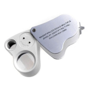 Kingmys 30x 22mm 60x 12mm Jewellery Loupe Glass Magnifying Magnifier With LED Light