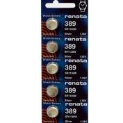 389 Watch battery - Strip of 5 Batteries