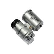 Umiwe(TM) Mini 60x LED Aluminium Pocket Microscope Jeweller Magnifier Adjustable Loupe with Battery and Storage Case With Umiwe Accessory Peeler
