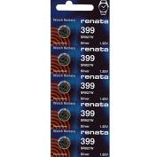 399 Watch battery - Strip of 5 Batteries