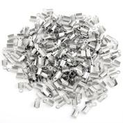 Lot 250 Silver Tone Metal End Crimp Beads Caps 9x5mm HOT