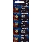 362 Watch battery - Strip of 5 Batteries