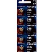 396 Watch battery - Strip of 5 Batteries