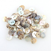 100 Mother of Pearl MOP Round Shell Sewing Buttons 8mm HOT
