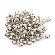 100 Silver 0.8cm Round Crystal Stud Spot Punk Nailheads Spikes for Shoes Bracelet
