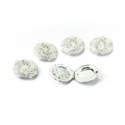5 X Silver Plated Round Lockets Charms Pendants 2.7cm HOT