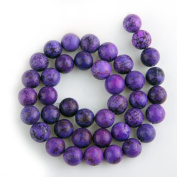 Round Purple Turquoise Gemstone Gem Stone Beads 10mm HOT