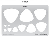 Metal and Polymer Clay Template - Picks