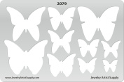 Metal and Polymer Clay Template - Butterflies