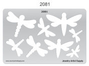 Metal and Polymer Clay Template - Dragonflies