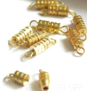 50 Set Gold Plated Screw Link Clasp Clasper Buckle 15*3mm Jewellery Making DIY NEW