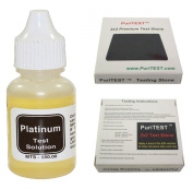 Platinum Test Solution Tester Acid Bottle + 2x2 Testing Stone! Detect Scrap Nuggets Metal Jewellery Kit