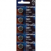 381 Watch battery - Strip of 5 Batteries