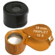10X Loupe Tiger's Eye Gemstone 18mm Gem Diamond Tool
