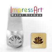 ImpressArt- 6mm, Lotus Flower Design Stamp