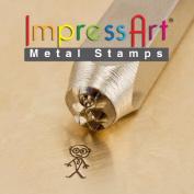 ImpressArt- 7mm, Grandpa Stick Figure Design Stamp