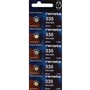 335 Watch battery - Strip of 5 Batteries
