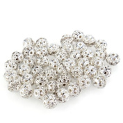 50 X Silver Plated Rhinestone Spacers Caps Beads 10mm HOT