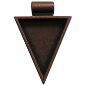 Lisa Pavelka Antique Copper Triangle Bezel Settings, Nickel and Lead Free , 2.5cm