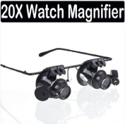 Chris's Home 20x Magnifier Magnifying LED Light Glass Loupe Lens Eye Jeweller Watch Repair