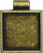 Lisa Pavelka Antique Gold Square Bezel Settings, Nickel and Lead Free , 2.5cm