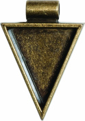 Lisa Pavelka Antique Gold Triangle Bezel Settings, Nickel and Lead Free, 2.5cm