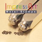 ImpressArt- 6mm, Flourish Ends N Design Stamps