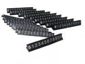 White on Black Base Adjustable Price Display Tag Label 192 Cubes, 16 Base